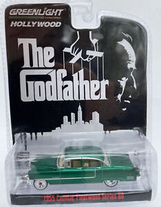 CHASE The Godfather Cadillac Fleetwood model car GREEN 1:64th 44740-B GREENLIGHT