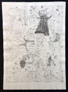 Pipì Paloma, tamburo di latta (III), acquaforte, 1993, a mano firmata e datata