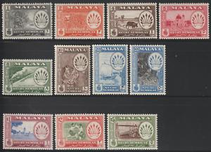 MALAYSIA-MALAYA-NEGERI-SEMBILAN-1957-DEFINITIVE-SET-OF-11V-TO-5-MH-CAT-RM-220