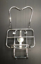 Rear / back carrier rack 2 way chrome (spare wheel/rack) for Vespa PX by Cuppini