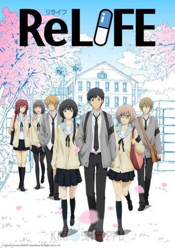 Poster A3 ReLIFE Arata Kaizaki Chizuru Hishiro Shojo Manga Anime Cartel Decor 02
