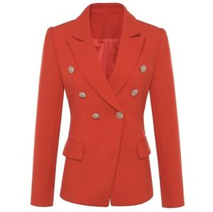Not Balmain Gold Size 10 Red Blazer Button Style 4Rx5qnxHZ