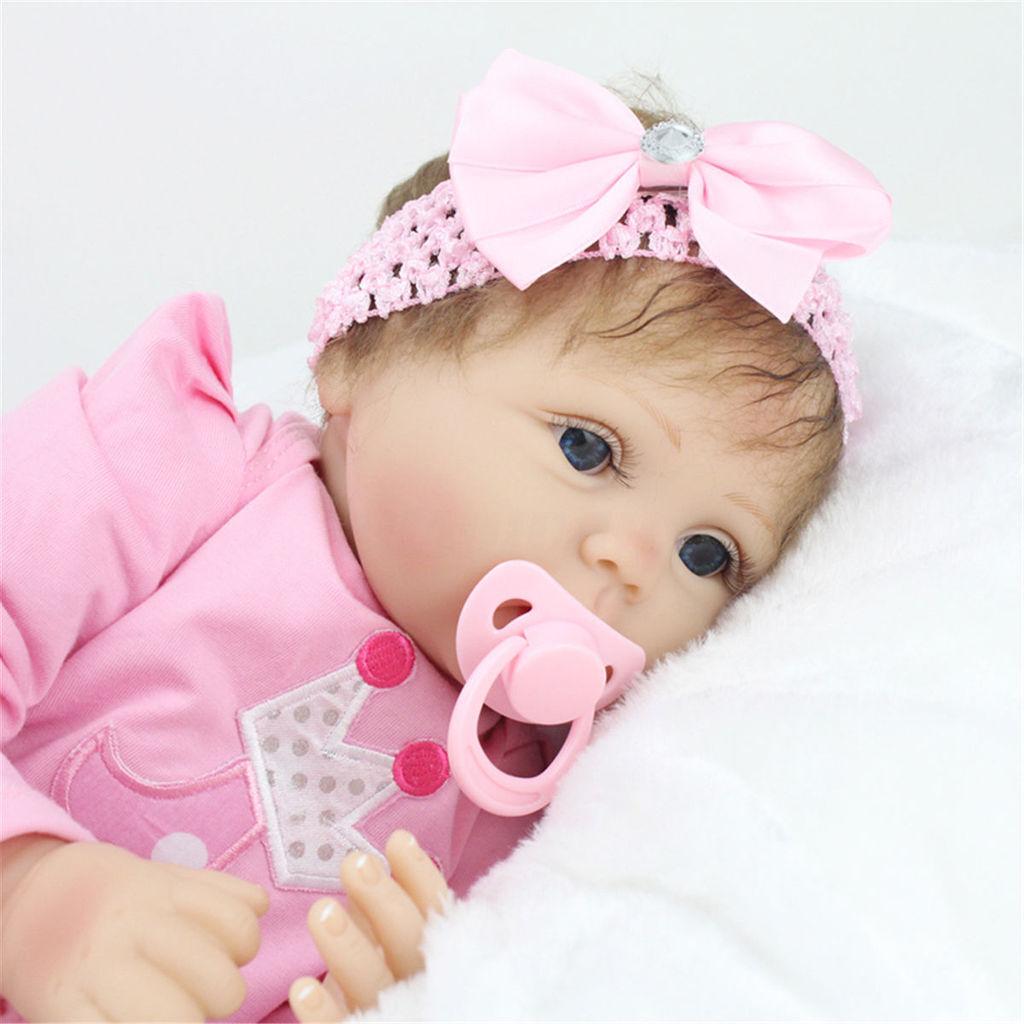 22  fatto a mano realistici neonato RINATO BABY DOLL Full Body Ragazza regali di compleanno