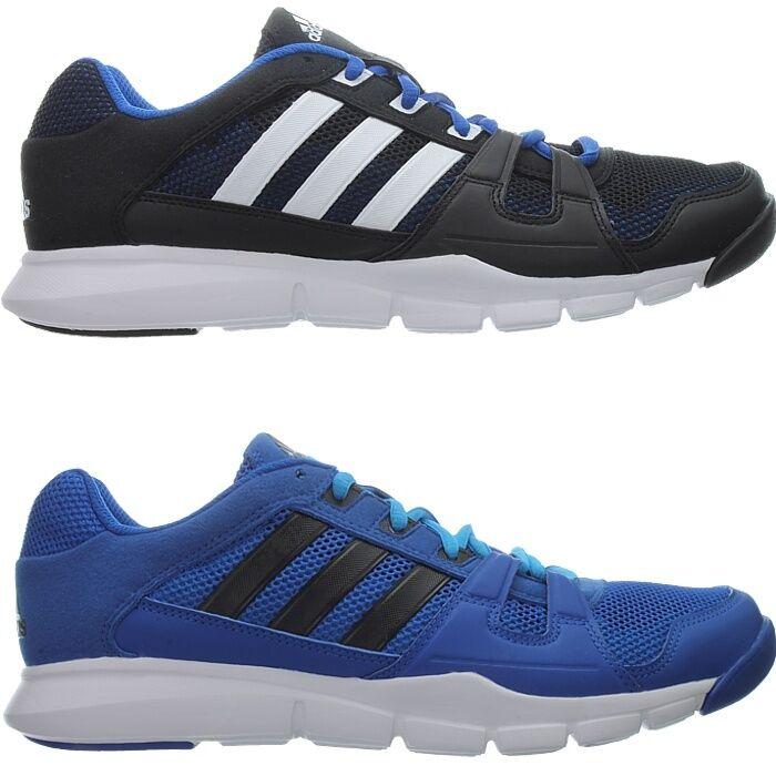 Adidas Gym Chaussures Gym warrior bleu noir hommes sport fonctionnement NEUF-