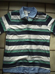 Jungen-Polo-Shirt-Hemd-im-2-Lagen-Look-mit-doppeltem-Kragen-Gr-158-164-NEU