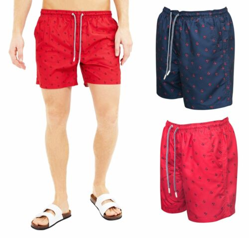 Mens Palm Tree Print Summer Holiday Festival Trunk Swimming Trunk Surfing Shorts