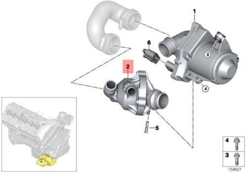 Genuine BMW F25 F26 SAC SUV Engine Coolant Thermostat Housing OEM 11537586784