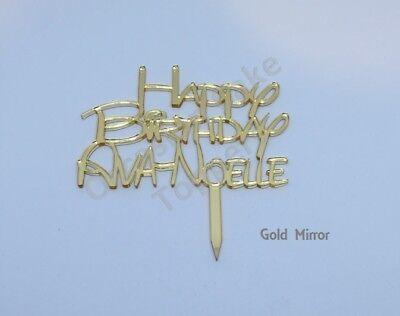 Di Carattere Dolce Disney Stile Font Personalizzata Nome Buon Compleanno Cake Topper-mostra Il Titolo Originale