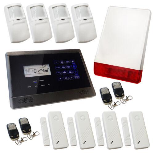 Sécurité sans fil GSM Maison Cambrioleur Alarme Intrus