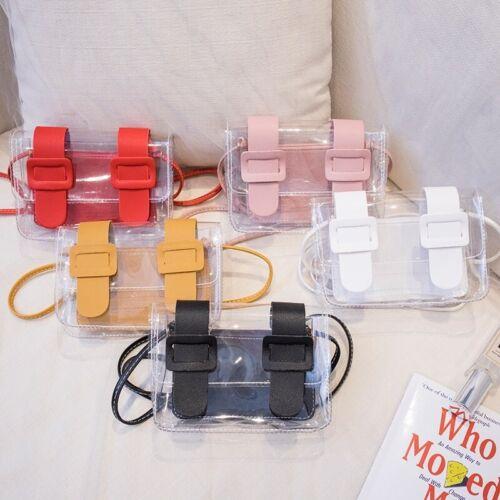 Bag Transparent Clear Shoulder Handbag Purse Tote Jelly Pvc Crossbody Women Plas