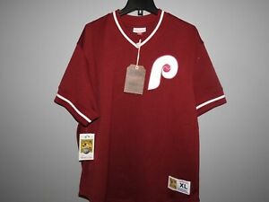 Mitchell-amp-Ness-Philadelphia-Phillies-Baseball-Jersey-New-Mens-MSRP-80