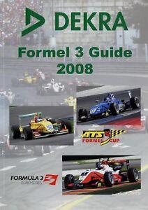 DEKRA Formel 3 Guide 2008 Buch Rennsport Motorsport book Formula 3 racing