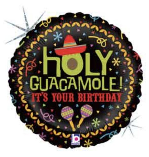 """Holy Guacamole It/'s Your Birthday 18/"""" Balloon Birthday Party Decorations"""