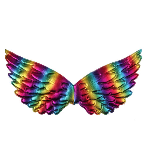 Kids Unisex Glossy Metallic Angel Wings for Halloween Cosplay Party Costume Gift