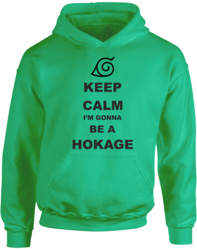 Anime Naruto Inspired Kid/'s Printed Hoody Keep Calm I/'m gonna be Hokage