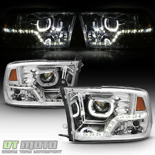 2009-2017 Dodge Ram 1500 2500 3500 LED DRL Halo Mono-Eye Projector Headlights