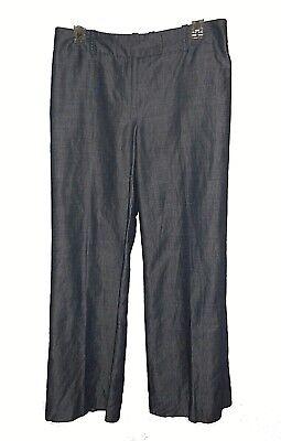 Genteel New Pants Ann Taylor Loft Petites Ann Blue Ramie-cotton Lined 6p
