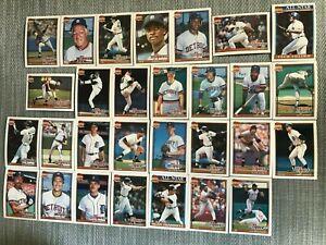 1991-DETROIT-TIGERS-Topps-COMPLETE-Baseball-Team-set-29-Cards-TRAMMELL-WHITAKER