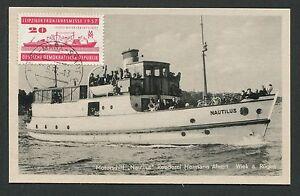 DDR-MK-1957-LEIPZIGER-MESSE-SCHIFFE-SHIP-MAXIMUMKARTE-MAXIMUM-CARD-MC-CM-d769