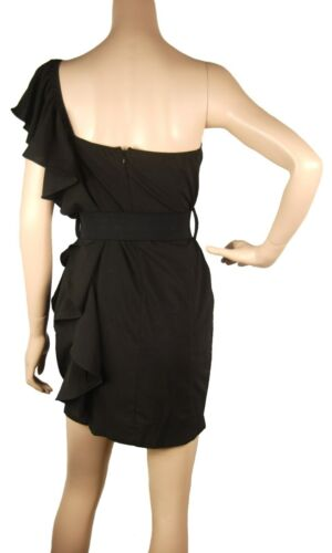 abito fiori monospalla nero cintura con B55 Conmigo Unico a dal design esclusivo OgCxBqwnf