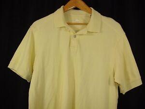 Tommy-Bahama-Mens-Cotton-Yellow-Short-Sleeve-Polo-Shirt-L