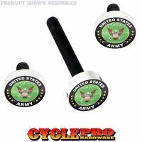Silver Billet Fairing Windshield Hardware Kit 14-up Harley - Usa Us Army Eagle