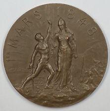 1898 Neuchatel Switzerland Bronze 50th Anniversary of Swiss Unification Medal JA
