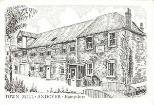 Art-Sketch-Postcard-The-Town-Mills-Andover-Hampshire-by-Don-Vincent-AS1