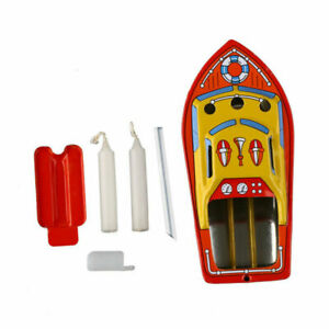 Retro-Steam-Boat-Candles-Powered-Put-Put-Ship-Collec-table-Tin-Toys-Decoration