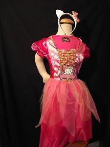 Superbe Robe Rose Hello Kitty Avec Serre-tête - 7/9 Ans Neuve