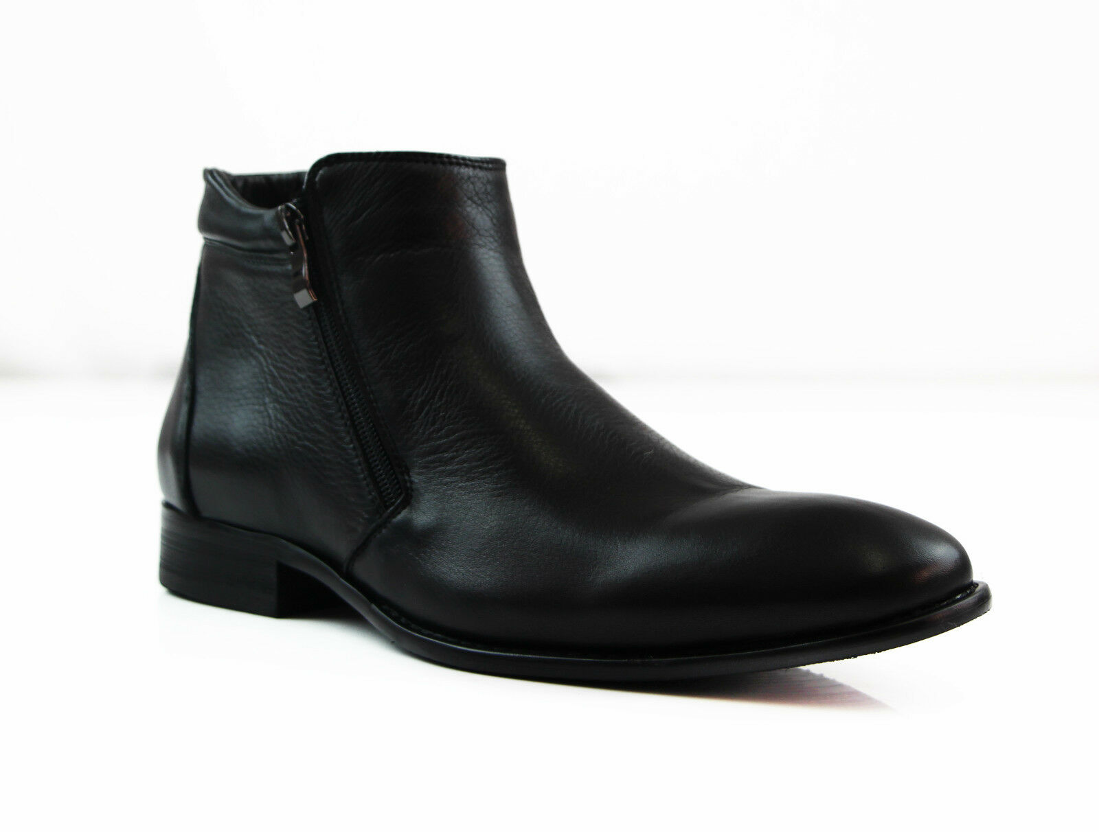 MENS BLACK ZASEL FORMAL CASUAL CASUAL LEATHER WITH ZIP DRESS CASUAL CASUAL MEN'S WEDDING BOOTS 5c4cdc