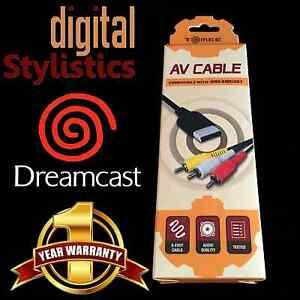 A-V-Cable-Cord-NEW-Sega-Dreamcast-AV-Audio-Video-NIB-Sealed-Retail-Packaging