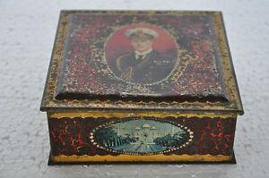 Vintage-Bw-amp-M-Ltd-Ejercito-Oficial-amp-Diferente-Places-Estampado-Litho-Lata