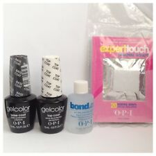 OPI Gelcolor Starter Kit Top Coat, Base Coat, Bond Aid 15ml, Foil Remover Wraps