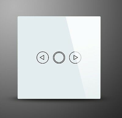 New White 1 Gang Glass Touch On/Off Dimmer Light Switch MG-UKD33 WH