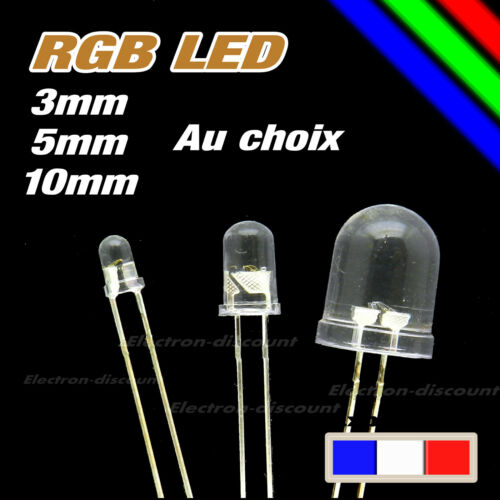 Led rgb 3 5 or 10mm choice slow or fast variation