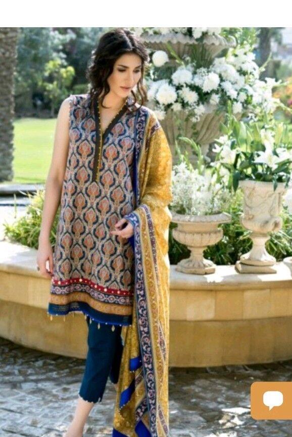 Pakistani designer al karam original suit stitched