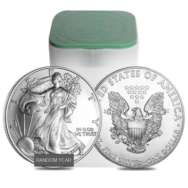 Roll of 20 - 1 oz Silver American Eagle BU (Random Year)