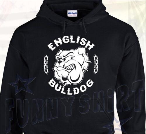 SWEAT A CAPUCHE ENGLISH BULLDOG  Anglais Molosse Chien Dog Spike Bouledogue Bull