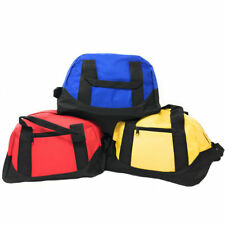 Small 12 inch Two Tone Duffle Travel Sport Gym Locker Bags Carry-On Luggage