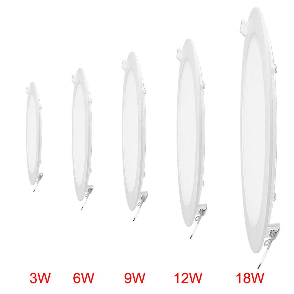 3w-18w ULTRASLIM ULTRASLIM ULTRASLIM Pannello LED Lampada Luce Da Incasso Faretto Lampada da parete 6500k circa e94b92