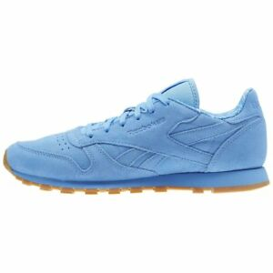 c990857a80b15d Details about Kids Reebok Classic Leather TDC Sky Blue   BD5056   GS Junior  Boy RB Suede White
