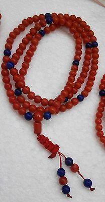 Red Coral Prayer Beads 108,corallo rosso,coral rojo,corail rouge Bhuddist mala