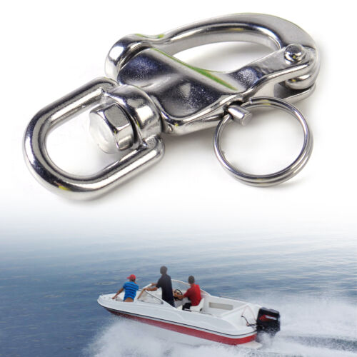 Stainless Steel Swivel Jaw Snap Shackle Bail Quick Release Marine Boat Hardware