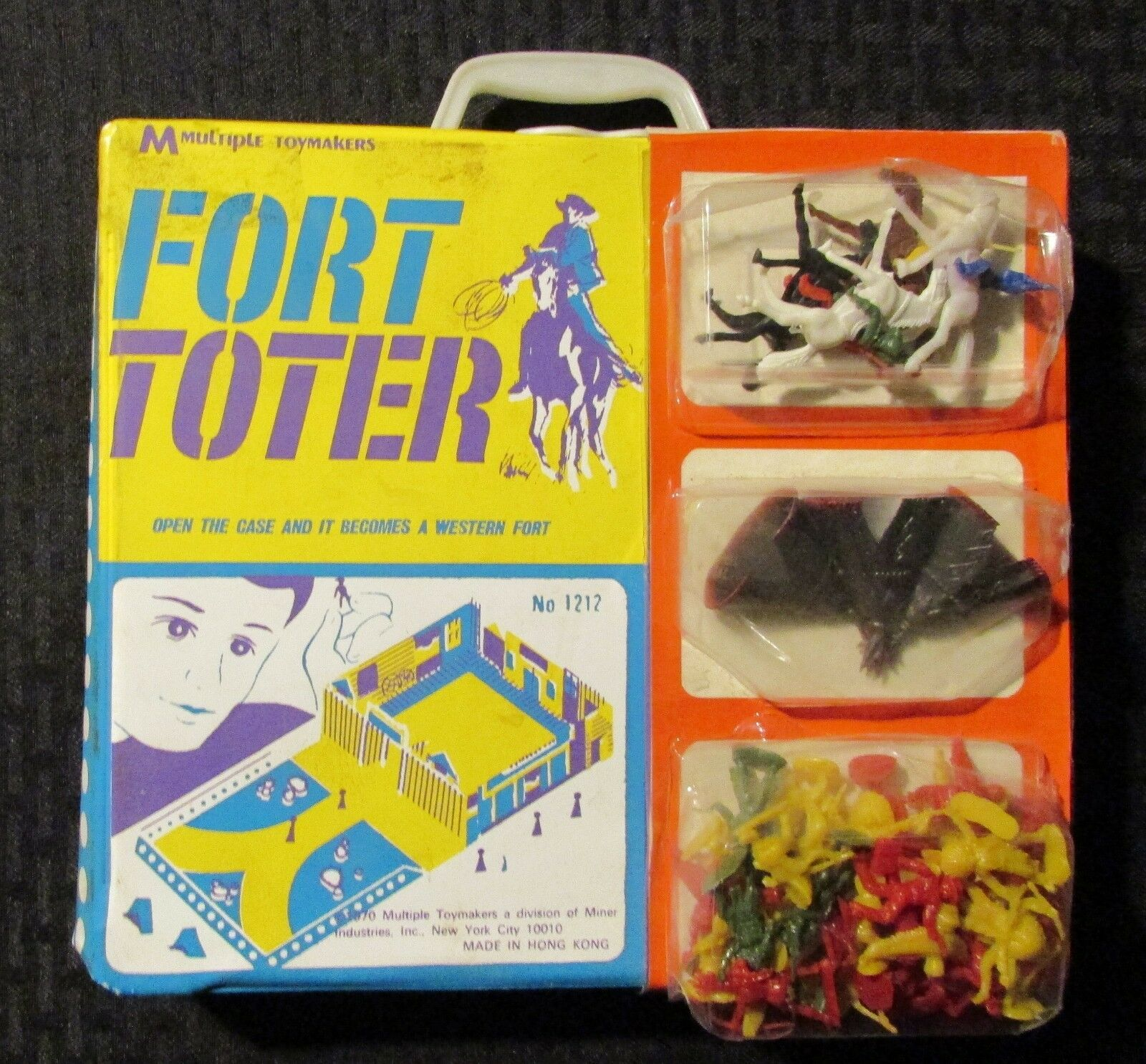 1970 FORT TOTER Western Playset SEALED Accessories in FN 6.0 Case