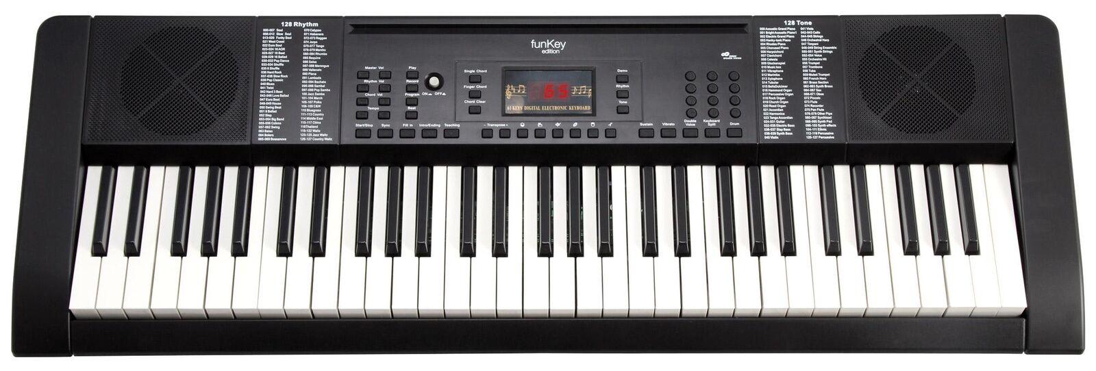 Zeitloses Keyboard mit klasse Design und toller Einsteiger Lernfunktion schwarz  | Primäre Qualität