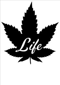 Vinyl Decal Sticker Marijuana Peace Weed ebn922 Multiple Color /& Sizes