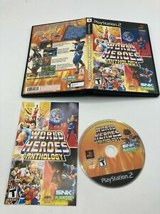 Sony PlayStation 2 PS2 CIB COMPLETE TESTED World Heroes Anthology