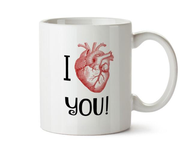 Anatomical Heart Coffee Tea Mug 11 Oz Anatomy I Love You Gift Geek