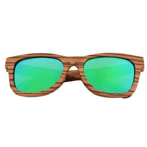 Luxury Handmade 100/% Zebra Wood Sunglasses Polarized Mirrored Wooden Sunglasse 5